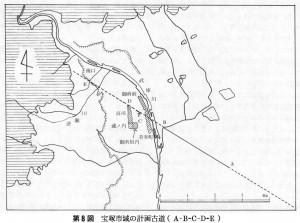 第8図 宝塚市域の計画古道(A-B-C-D-E)
