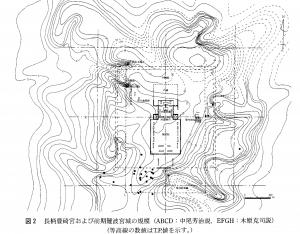 図2 長柄豊碕宮および前期難波宮城の規模