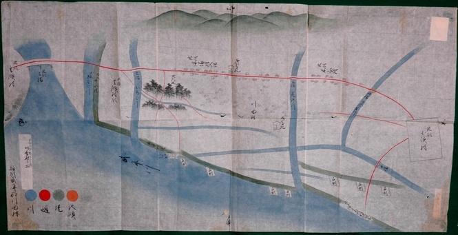 川面村絵図 (天保9年(1838)